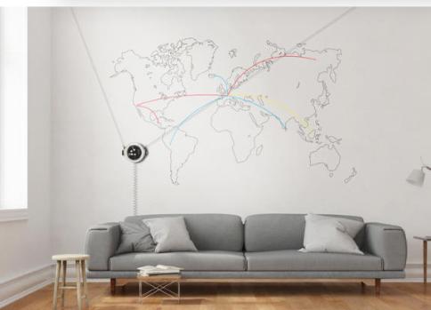 Articolo: Arriva il robot che disegna sui muri qualsiasi cosa. E poi la cancella